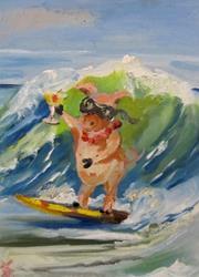 Art: Party Pig on Spring Break by Artist Delilah Smith