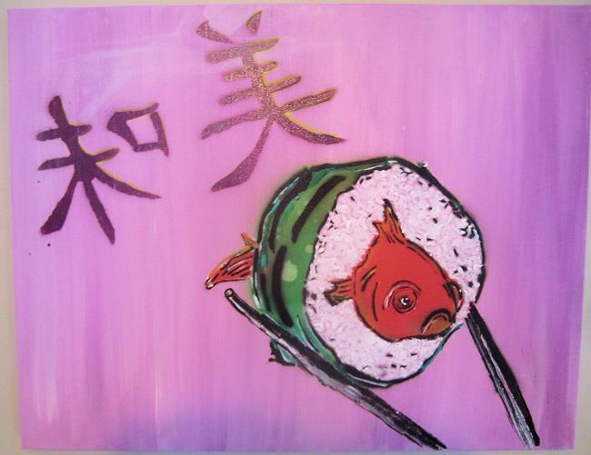 Art: fresh sushi by Artist Paul Lake, Lucky Studios