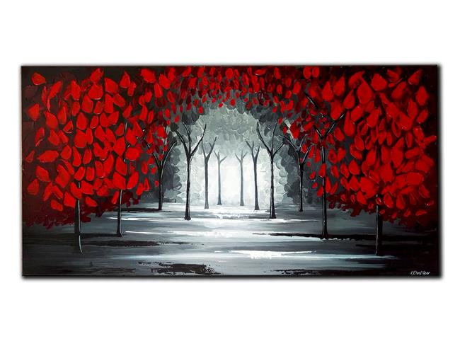 Art: RED FOREST by Artist Kate Challinor
