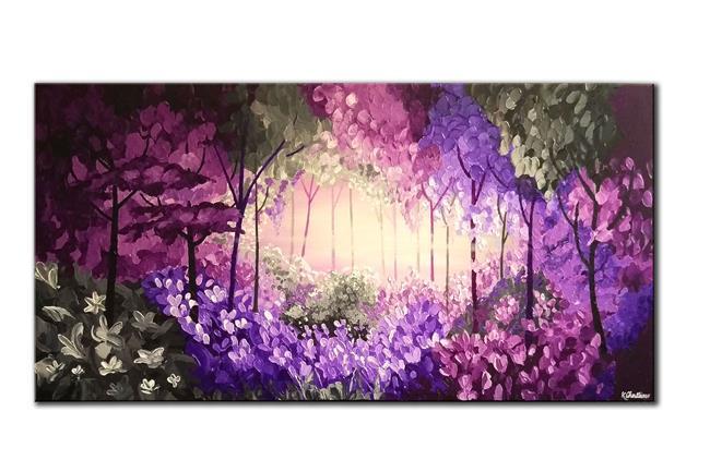Art: PURPLE FOREST by Artist Kate Challinor