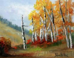 Art: Aspens in the Valley by Artist Barbara Haviland