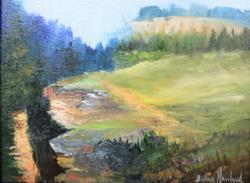 Art: Rock Cliff by Artist Barbara Haviland