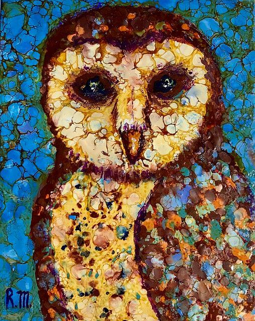 Art: Barn Owl - SOLD by Artist Ulrike 'Ricky' Martin