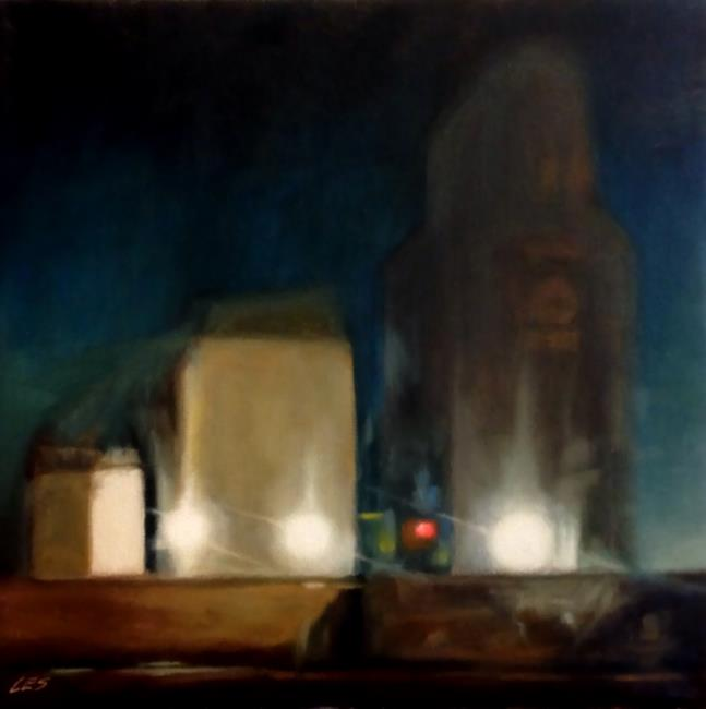 Art: Shipping Grain All Night by Artist Christine E. S. Code ~CES~
