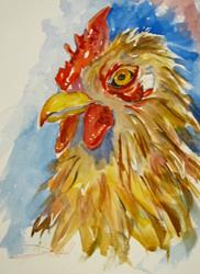 Art: Rooster No.4 by Artist Delilah Smith