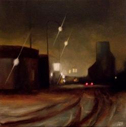 Art: Railway Ave. Eston Saskatchewan by Artist Christine E. S. Code ~CES~