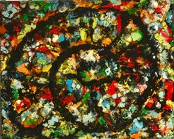 Art: Abstract Ammonite by Artist Ulrike 'Ricky' Martin