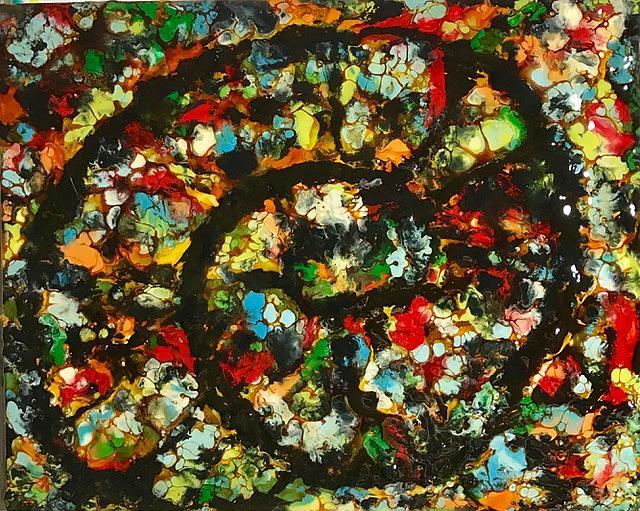Art: Abstract Ammonite by Artist Ulrike 'Ricky' Martin