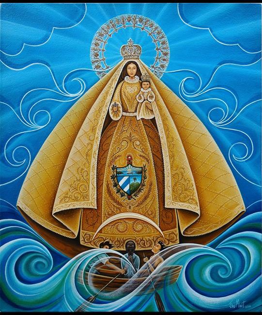 Art: Caridad del Cobre.jpg by Artist Javier Martinez