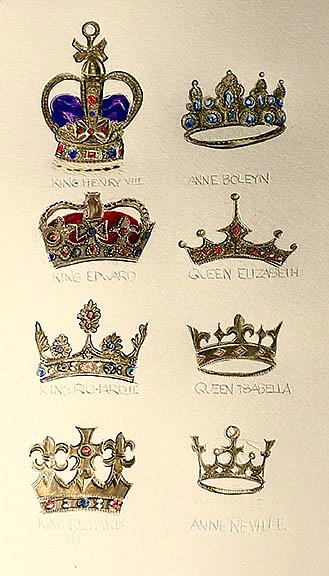 Art: Of Queen and Kings: Crowns by Artist Alma Lee