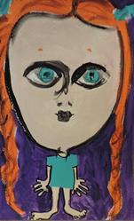 Art: red pigtails by Artist Nancy Denommee