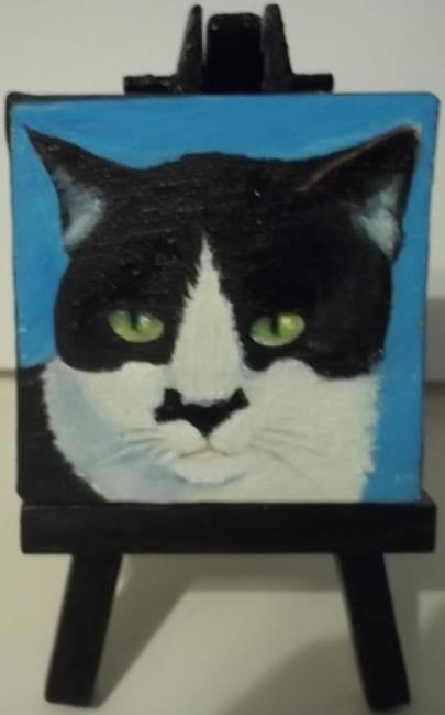 Art: MY CAT ZORRO by Artist Rosemary Margaret Daunis