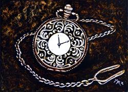 Art: Vintage Pocket Watch by Artist Monique Morin Matson