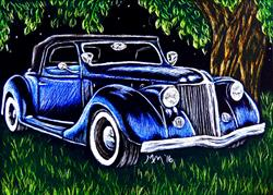 Art: Roadster by Artist Monique Morin Matson