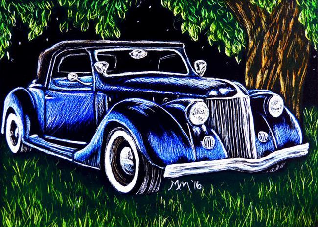 Art: Roadster  (SOLD) by Artist Monique Morin Matson