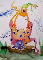 Art: Pet Tricks by Artist Delilah Smith