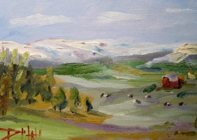 Art: Cows in the Pasture-sold by Artist Delilah Smith