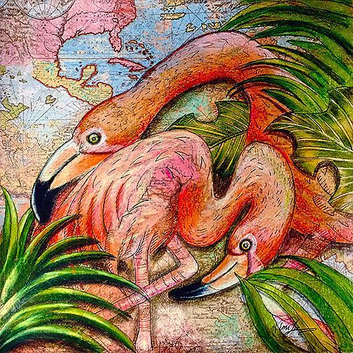 Art: Just beyond the Bermuda Triangle by Artist Alma Lee