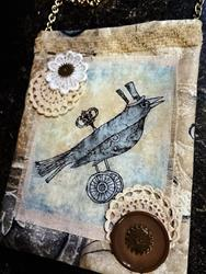 Art: Steampunk Purse by Artist Vicky Helms