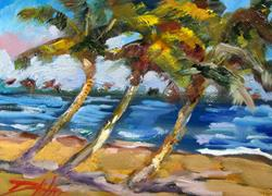 Art: Three Palm Trees by Artist Delilah Smith