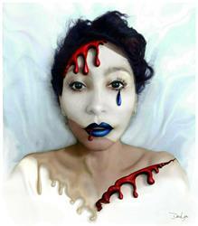 Art: Blood Sweat Tears Faced by Artist Doe-Lyn