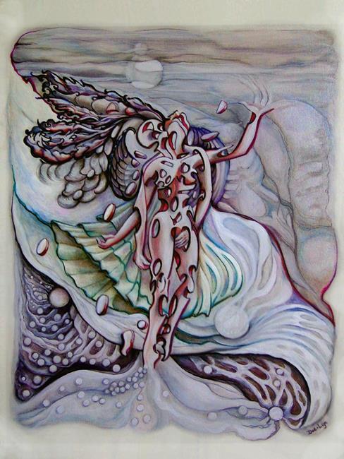 Art: Lament a Wing by Artist Doe-Lyn