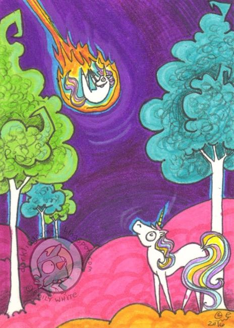 Art: The Last Unicorn by Artist Emily J White