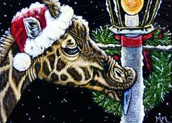 Art: A Zoo Christmas Story  (SOLD) by Artist Monique Morin Matson