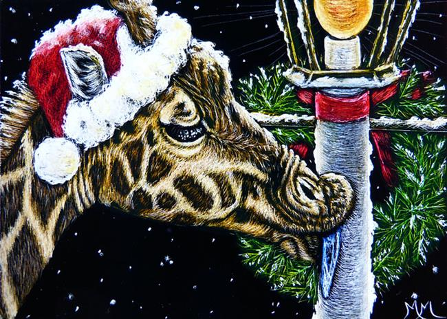 Art: A Zoo Christmas Story  (SOLD) by Artist Monique Morin Matson