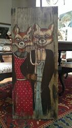 Art: American Gothic Foxes II by Artist Chris Jeanguenat