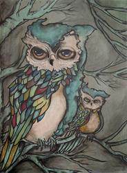 Art: Senior and Junior by Artist Chris Jeanguenat