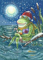 Art: CHRISTMAS WARMS THE HEART by Artist Susan Brack