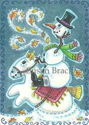Art: FROSTY THE HEADLESS SNOWMAN by Artist Susan Brack