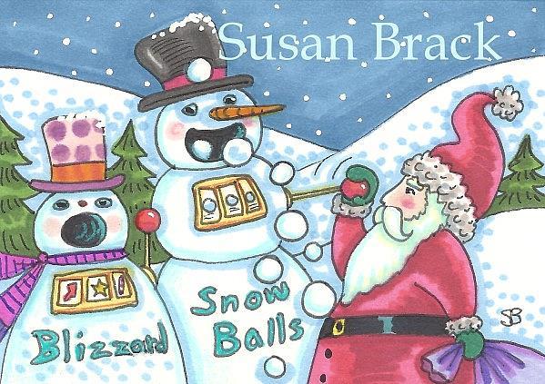 Snowman gambling casino bonus promotion