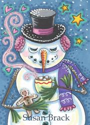 Art: GINGERBREAD AND A MUG OF HOT CHOCOLATE by Artist Susan Brack