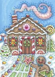 Art: GINGERBREAD HOME SWEET HOME by Artist Susan Brack