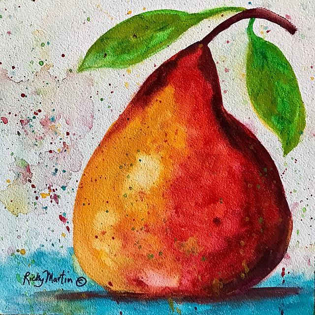 Art: pear by Artist Ulrike 'Ricky' Martin