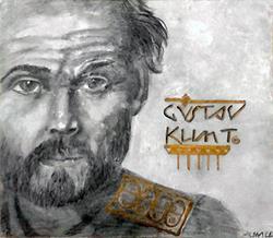 Art: Gustav Klimt Portrait (SOLD) by Artist Alma Lee