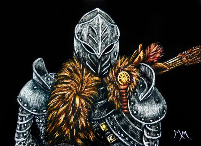 Art: Medieval Knight  (SOLD) by Artist Monique Morin Matson
