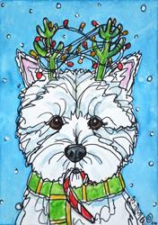 Art: Rudolph Westie by Artist Melinda Dalke