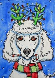 Art: Prancer Poodle by Artist Melinda Dalke