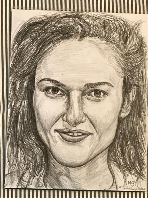 Art: Elise. by Artist William Powell Brukner
