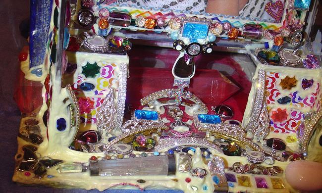 Art: Perfect Sexy Selena Gorgeous Gomez Jeweled ART Box 2. by Artist William Powell Brukner
