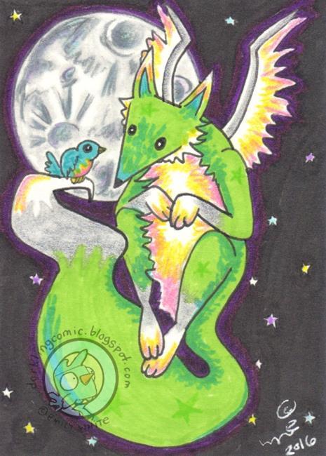 Art: Fox Wings by Artist Emily J White