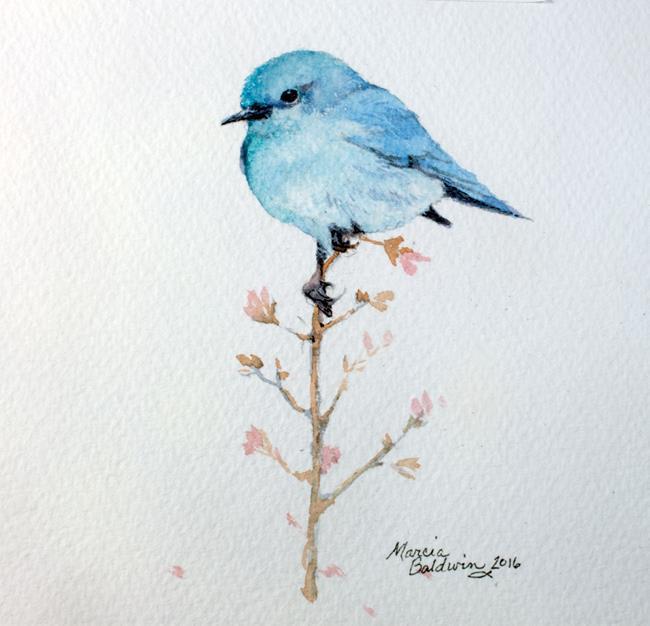 Art: BLUE HAPPINESS by Artist Marcia Baldwin