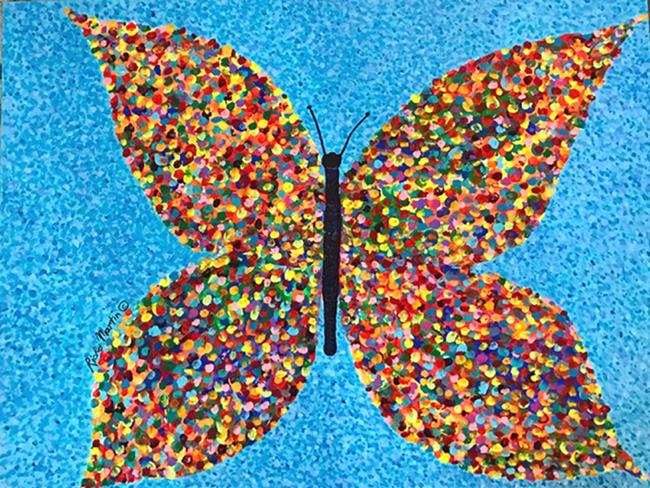 Pointillism Butterfly By Ulrike Ricky Martin From Abstract