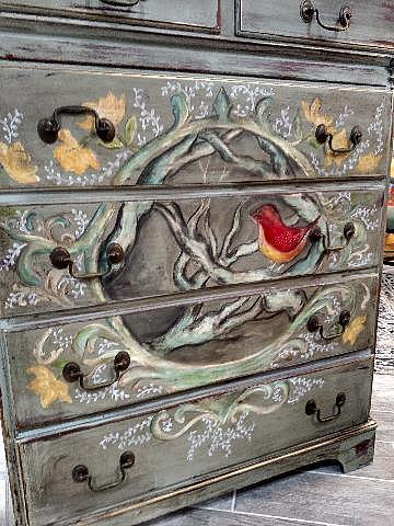 Spring Will Come  Custom Painted Dresser   By Chris ...