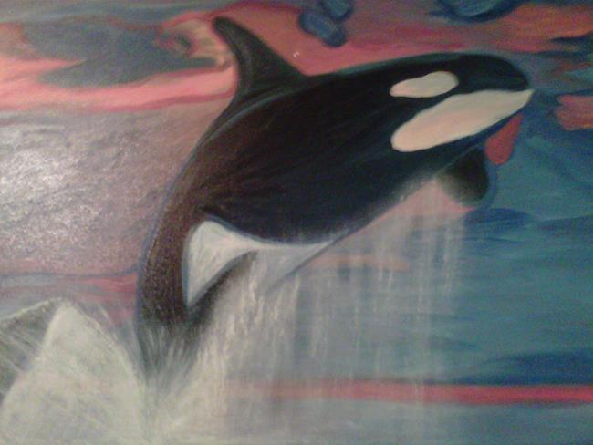 Art: Orca by Artist Vic Ki Lynn