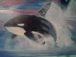 Art: Orca by Artist Vic