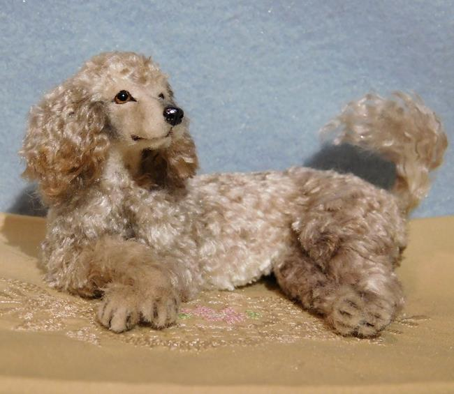 Art: Silk Furred Poodle by Artist Camille Meeker Turner